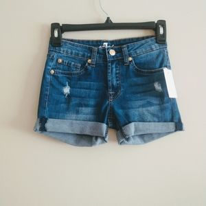 7 For All Mankind Girls Denim Shorts Size 10